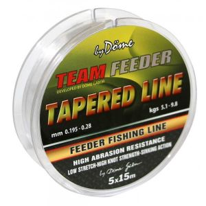 By Dome - Fir Conic TEAM FEEDER Tapered Leader 5x15 m - 0,20-0,31 mm